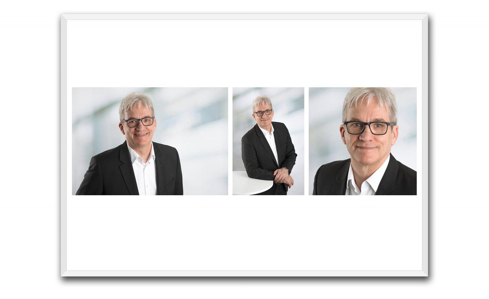 Professionelles, modernes Bewerbungsfoto für die Bewerbung im Fotostudio
